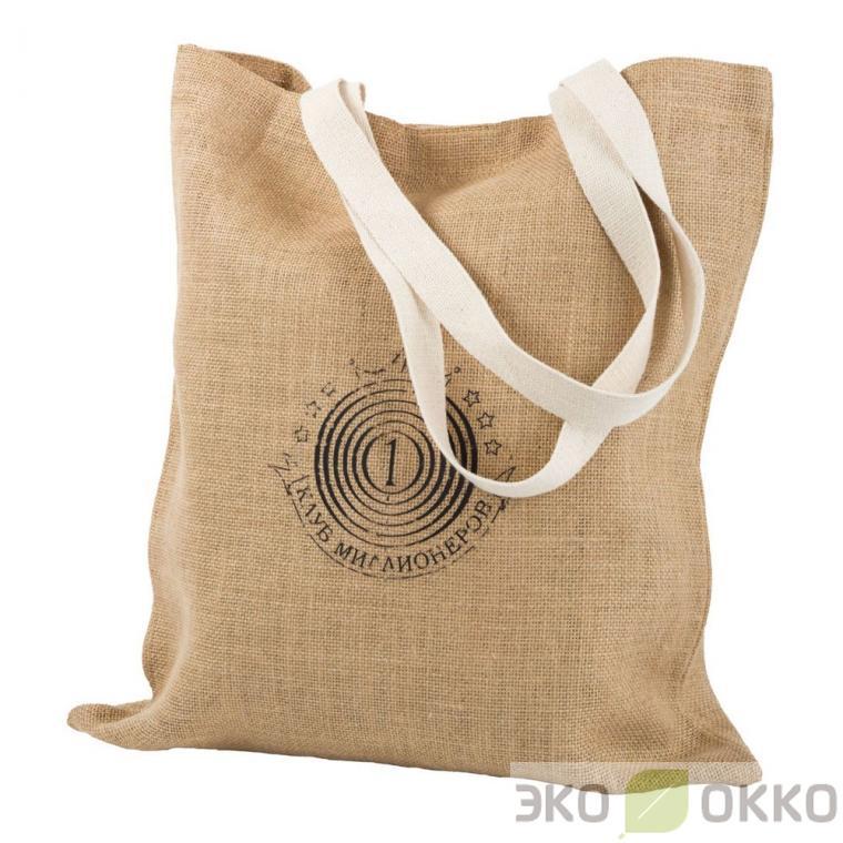 5bb32d642e75 Пошив джутовых сумок с логотипом на заказ | Тканевые экосумки оптом от  производителя ЭКО ОККО